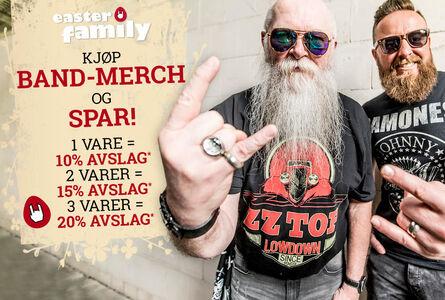 Kjøp band-merch og spar!