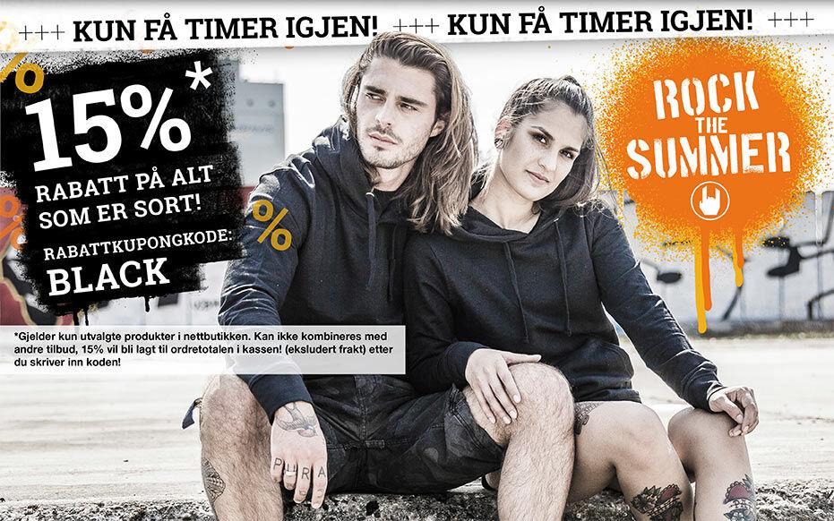 15% rabatt på alt som er sort!
