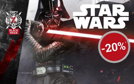 Få 20% rabatt på utvalgte STAR WARS varer nå!