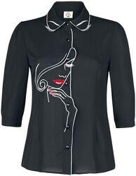 Rockabilly Long-Sleeve Blouse