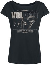 96a6900a Distressed Logo Volbeat T-skjorte. The Gang