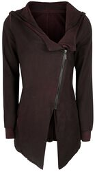 Asymmetrisk vintage jakke med glidelås