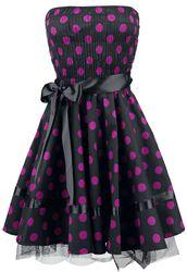 Kjole med  lilla prikker