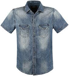 Riley kortermet jeansskjorte