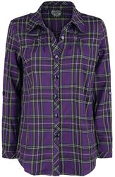 Purple Tartan Plaid Shirt
