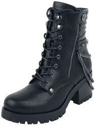 Boots med Lenker og Dekorative Glidelåser