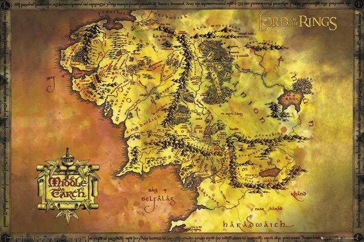 kart over midgard Midgard Kart | Ringenes herre Poster | EMP kart over midgard
