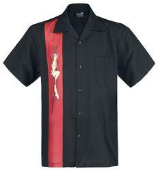 Pin-up panel skjorte