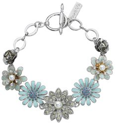 Rose and Aster Flower Bracelet