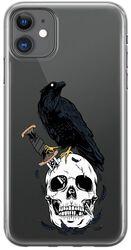 Knifed Skull Raven - iPhone