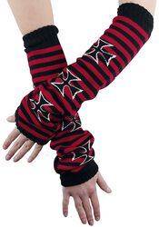 Striped Arm Warmers With Cross