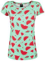 Lovely Watermelon løs skjorte