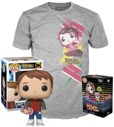 Marty with Hoverboard - T-Skjorte pluss Funko - POP! & Tee