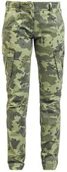 Cargo pants with camouflage pattern