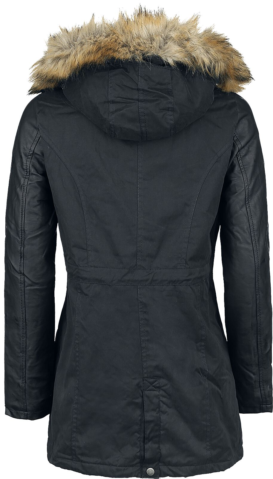 09ff45b8 Urban Classics. Ladies Imitation Leather Sleeve Parka. Vinterjakke