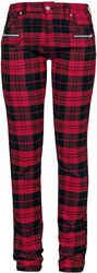 Skarlett - red/black checked trousers