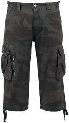 3/4 Vintage kamuflasje-shorts
