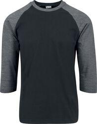 Contrast Raglan T-skjorte med 3/4 erme