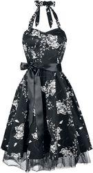 Hvitblomstret kjole
