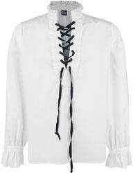 Skjorte med rysjer og blonder