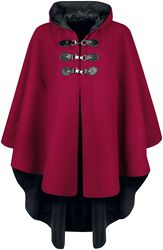 Red cape with hood