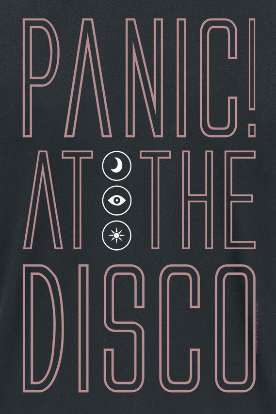 fc1064d0 Outline Name | Panic! At The Disco T-skjorte | EMP