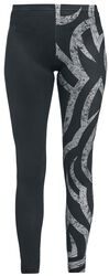 Black leggings with tribal print