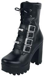 Black Grain Leather Boot