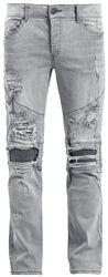 Biker/jeans med ødelagt stil