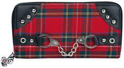Rød skotskrutet Lommebok
